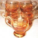 Amber Glass Petite Cordial Drinking Cup Set (5)