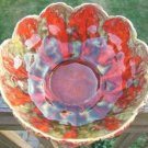 VINTAGE MULTI COLORED FLOWER SERVING BOWL - CANADA