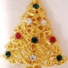 Christmas Tree Pin w/ Multi Colored Rhinestones WOW!!