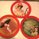 Coca Cola Calendar Girls Metal Coasters (6)