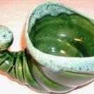 VINTAGE USA Green Foam Drip Cornucopia Planter 1950's
