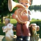 VINTAGE NAPCOWARE BOY PLAYING BARITONE FIGURINE  C7655