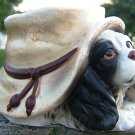 VINTAGE INARCO PUPPY DOG with HAT HEAD VASE - JAPAN