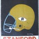 1969 PURDUE vs STANFORD FOOTBALL PROGRAM - VINTAGE ADS!