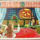 VINTAGE EMBOSSED HALLOWEEN POST CARD - LION HEAD LOGO
