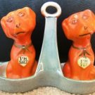 VINTAGE I'M PEP & I'M SALT DOG SALT & PEPPER SHAKERS