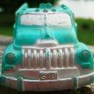 VINTAGE AUBURN RUBBER TRUCK 518  DOUBLE HORN & DRIVER!