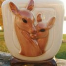 VINTAGE ROYAL COPELY DEER AND FAWN RECTANGULAR PLANTER