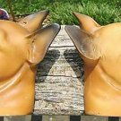 VINTAGE CERAMIC BOXER HEAD WALL HANGINGS (2) 3-D!!