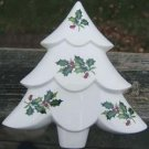 VINTAGE CHRISTMAS TREE & IVY CANDY DISH - R&L CERAMICS