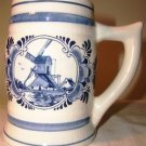 NORELCO Delft Blauw Hand Painted Made In Holland Stein