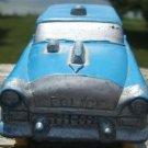 VINTAGE AUBURN RUBBER BLUE POLICE CAR & SILVER TRIM 576
