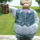 VINTAGE MAN w/ PIPE HOLDING MUG DECANTER - PUB NOVELTY!