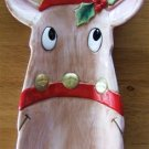 FITZ and FLOYD REINDEER SNACK TRAY or WALL DECOR w/ BOX