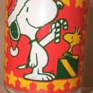 Vintage SNOOPY & Woodstock 32 OZ. Christmas Glass 1965