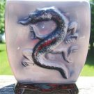 VINTAGE ROYAL COPLEY ORIENTAL STYLE FOOTED DRAGON VASE