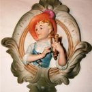 3-D Victorian Style Colonial Woman & Harp Wall Hanging