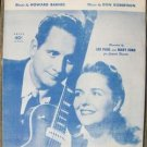 """VINTAGE """"I REALLY DON'T WANT TO KNOW"""" Sheet Music 1953"""