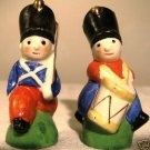 VINTAGE Hand Painted Toy Soldier S & P Shaker Set