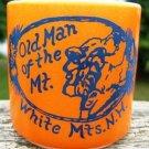 VINTAGE FEDERAL GLASS OLD MAN OF THE MT. ORANGE MUG USA