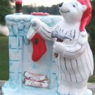 COCA-COLA BEAR HANGING CHRISTMAS STOCKING FIGURINE '97