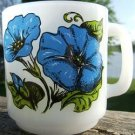 "VINTAGE GLASBAKE ""MORNING GLORY"" COFFEE MUG #77  WOW!!"
