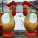 HOLT HOWARD RED ROOSTER SALT & PEPPER SHAKER SET 4 3/4""