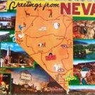 "VINTAGE ""GREETINGS FROM NEVADA"" POST CARD 8532G UNUSED!"