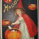 VINTAGE CLAPSADDLE HALLOWEEN POST CARD 1912 - GERMANY