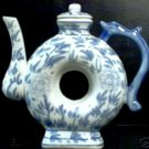 "Delft  Blue Glazed Porcelain  ""Circle""  Pitcher"