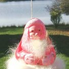 VINTAGE PLASTIC SANTA CLAUS CANDY CONTAINER with BELL!