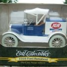ERTL COLLECTIBLES 1918 FORD RUNABOUT IGA DIE CAST BANK