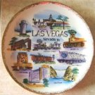 VINTAGE LAS VEGAS NEVADA COLLECTOR'S PLATE w/ GOLD TRIM
