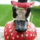 VINTAGE BLACK CHILD EATING WATERMELON PIN CUSHION 1939