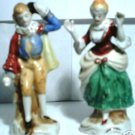Occupied Japan Victorian Man & Woman Figurines