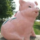 VINTAGE SITTING PINK PIGGY BANK w/ FLOPPY EARS  L@@K!!
