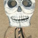 Paper Mache Halloween SKELETON Ballroom Mask SIGNED