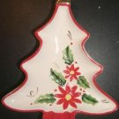 Josef Originals Poinsettia Christmas Tree Ashtray '60s