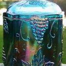 """VINTAGE IG CARNIVAL GLASS HARVEST GRAPE CANISTER 7 1/4"""""""