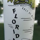 VINTAGE HAZEL ATLAS FLORIDA 8 OZ SOUVENIR FROSTED GLASS