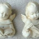 VINTAGE SINGING ANGELS CHALKWARE WALL HANGING SET L@@K!