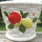 "RELPO CERAMIC APPLE & LEMON ""BASKET"" PLANTER - 6638"