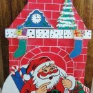 VINTAGE SANTA/CHIMNEY WOOD CHRISTMAS CARD HOLDER JAPAN