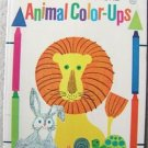 WHITMAN PUBLISHING ANIMAL COLOR-UPS COLORING BOOK 1969