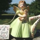 VINTAGE JOSEF ORIGINAL 7TH YEAR BIRTHDAY ANGEL FIGURINE