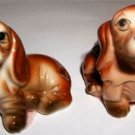 Hand Painted Porcelain Puppy Miniature Figurines CUTE!!