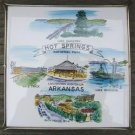 VINTAGE HOT SPRINGS ARKANSAS SOUVENIR TRIVET 1960's