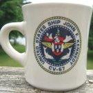 JOHN F. KENNEDY U.S. SHIP MUG CV-67  MIL-ART CHINA CO.