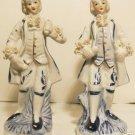 Porcelain Hand Painted Victorian Men Figurines