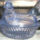 VINTAGE BOYD'S GLASS AMETHYST HEN ON A NEST  BEAUTIFUL!